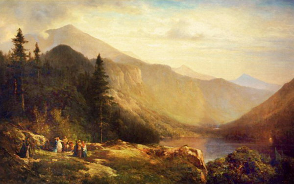 Mount Lafayette and Echo Lake from Artist Bluff, Franconia Notch by Thomas Hill