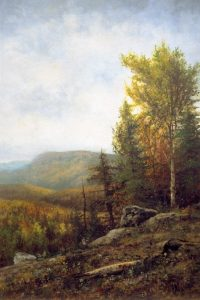 Autumn Hillside by William Henry Hilliard