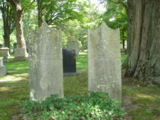 The Gravestones of Frank and Mary Shapleigh, Forest Hills Cemetery, Boston, MA
