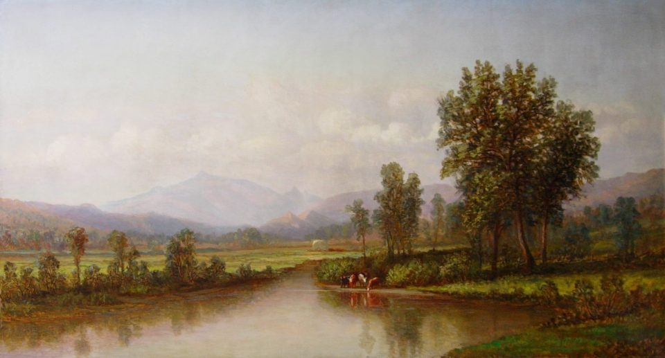 Mount Washington from the Saco River by Charles B. Russ