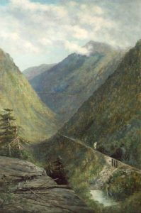 Crawford Notch from Bugle Cliff by Frank Henry Shapleigh