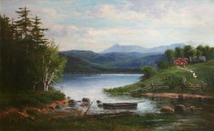 Moat Mountain from Walker's Pond by Frank Henry Shapleigh