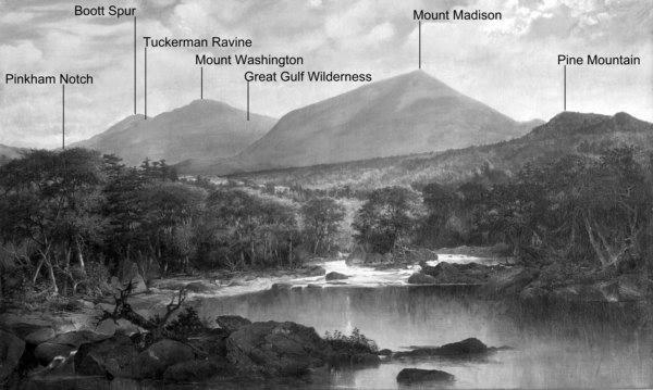Mounts Washington and Madison Looking Southwest from Gorham