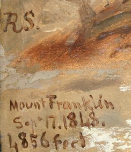 RS. / Mount Franklin / Sep+ 17.1848. / 1,856 feet