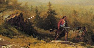Detail Indian Guide, Mount Chocorua by Aaron Draper Shattuck