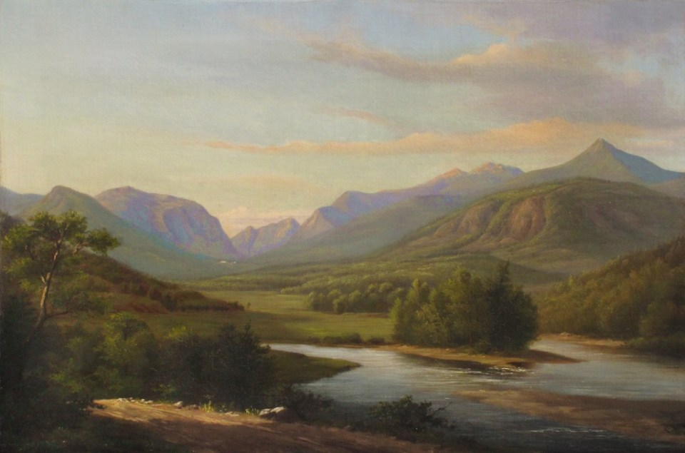 Franconia Notch from North Woodstock by Sylvester Phelps Hodgdon