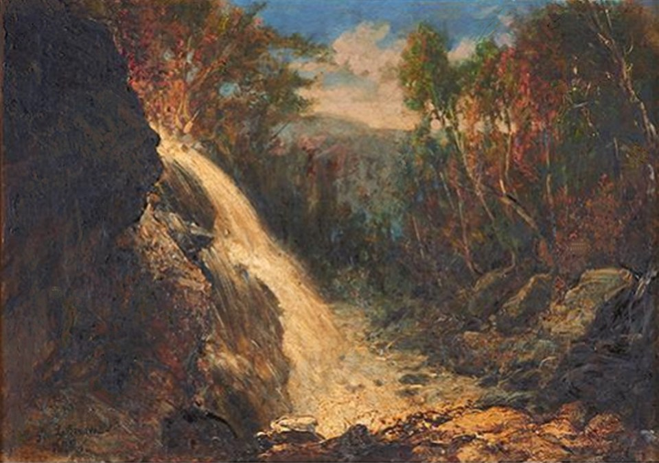 Mill-Brook Cascade at Thornton by George Loring Brown