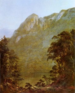 Eagle Cliff from Profile Lake by David Johnson