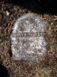 Gravestone of Fanny R. Thurston (1839-1920)