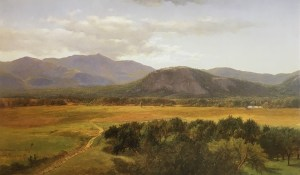 Moat Mountain and White Horse Ledge from North Conway by James David Smillie