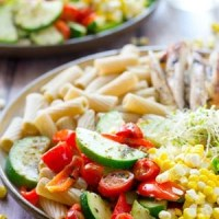 California Veggie Grilled Chicken Pasta Bowls