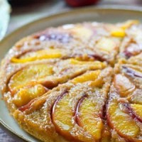 Summer Peach Upside-Down Coffee Cake