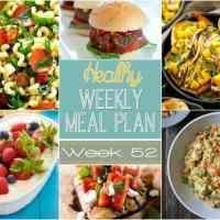 Healthy Weekly Meal Plan Week 52