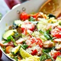 Summer Garden Vegetable Sausage Risotto