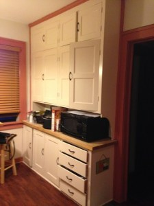 Before remodel - cabinets