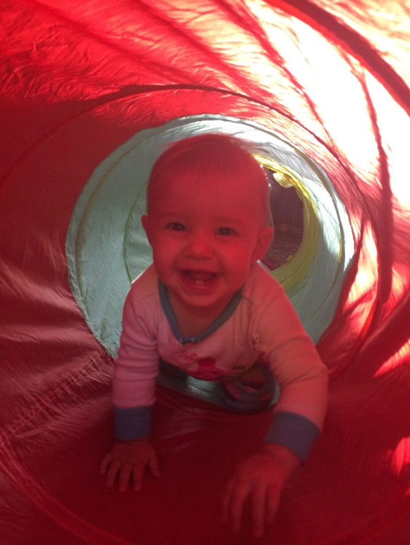 Evie in the tunnel