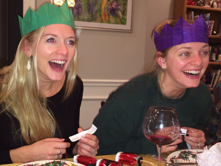 Skyler and Chelsea Christmas Cracker Crowns