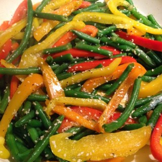 Green Beans with Bell Peppers