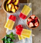 Peach and Strawberry Ice Pops