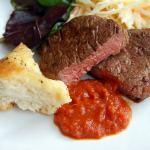 BBQ Chilli sauce served with steak