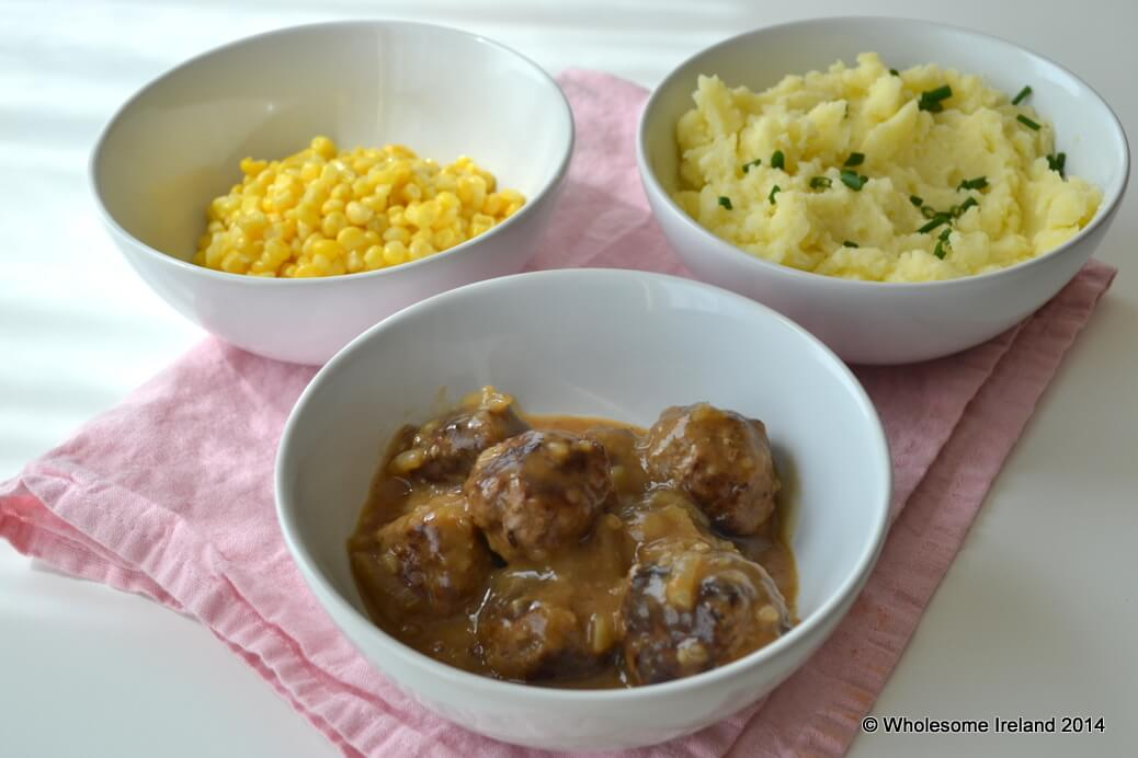Meatballs in Onion Gravy - Caitriona Redmond - Wholesome Ireland