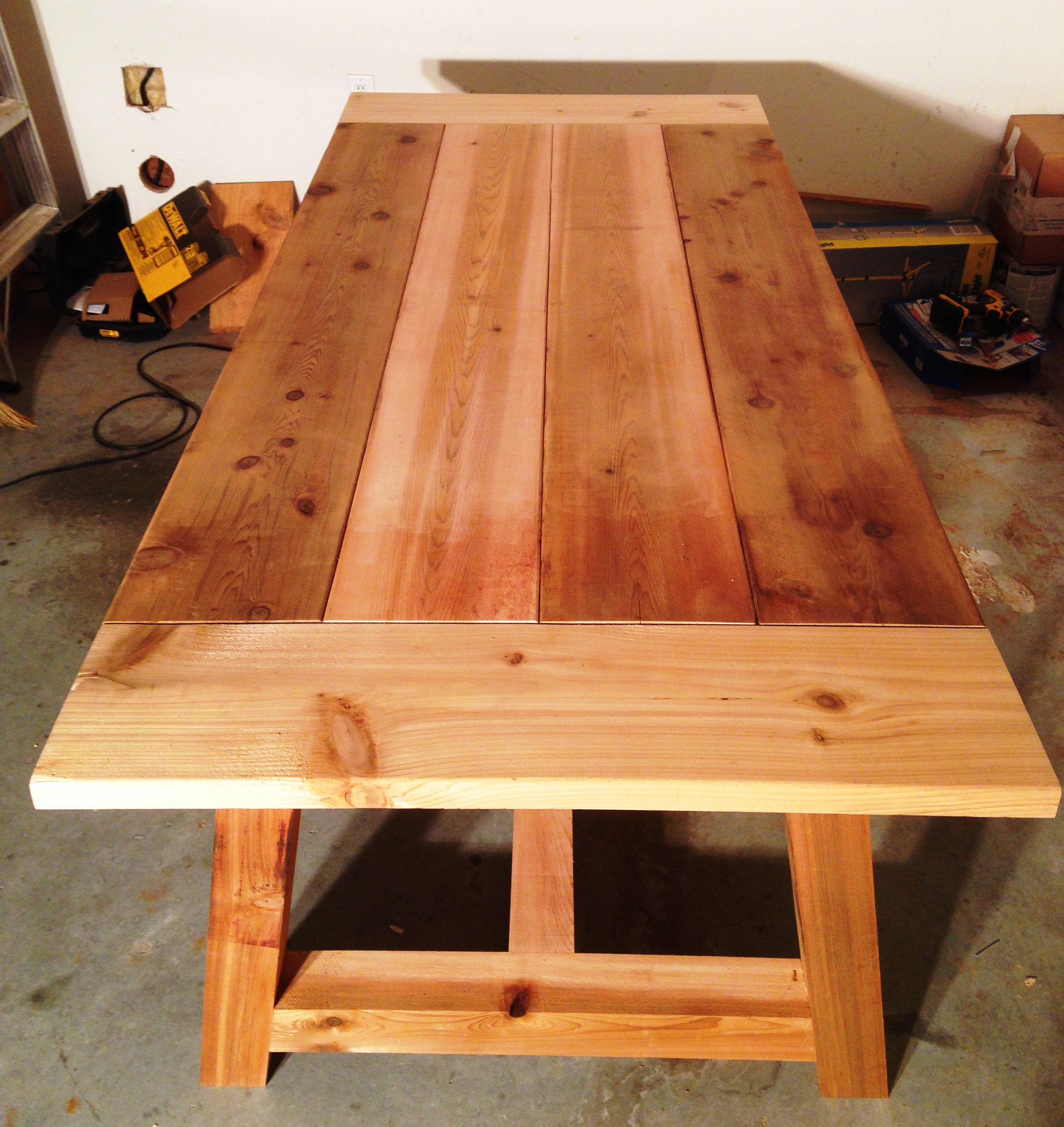 Ana White 4x4 Truss Table Built By Anthony Berg 03