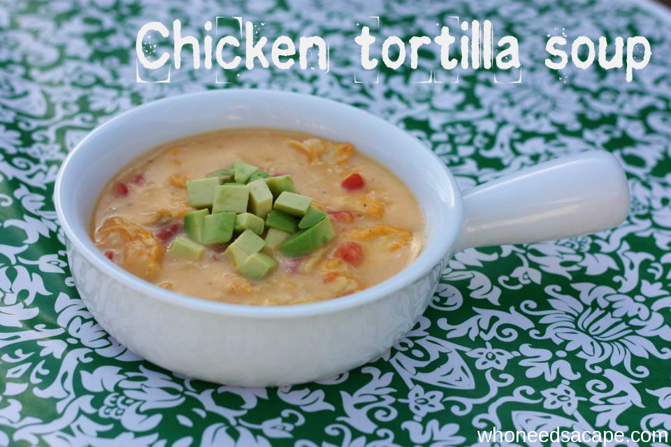 {copycat} Max & Erma's Chicken Tortilla Soup | Who Needs A Cape?
