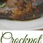 Crockpot Balsamic Glazed Drumsticks