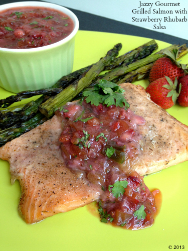 Grilled-Salmon-with-Strawberry-Rhubarb-Salsa