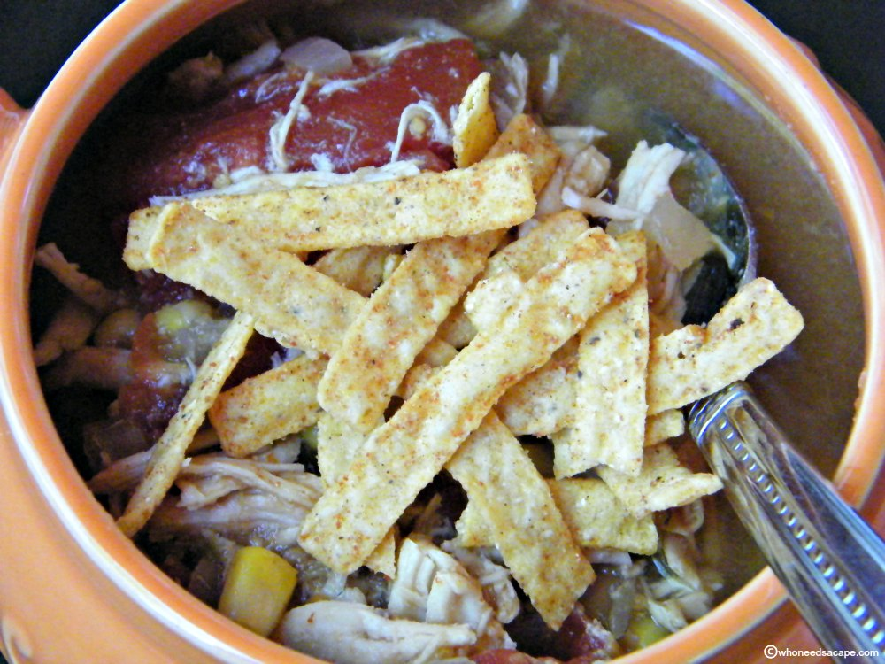 Slow Cooker Fiesta Chicken Soup - Who Needs A Cape?