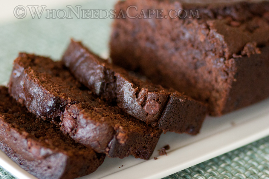 Sour Cream Chocolate Chocolate Chip Banana Bread - Who Needs A Cape?