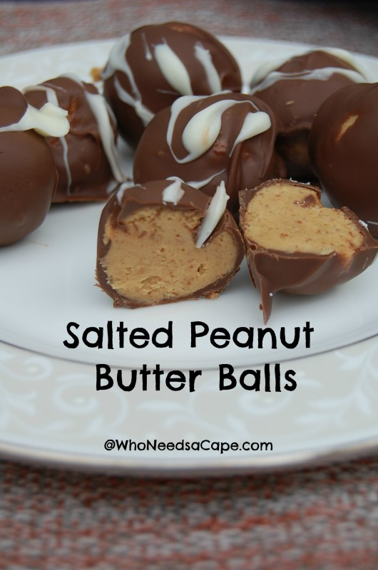 Salted Peanut Butter Balls | Who Needs A Cape?