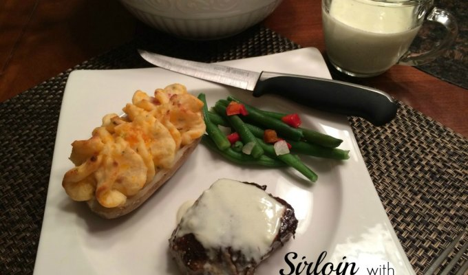 Sirloin with Blue Cheese Sauce Omaha Steaks Review