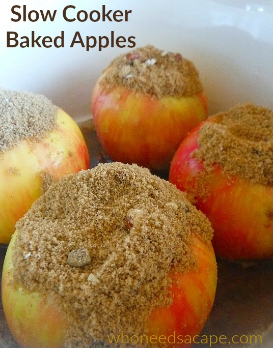 Slow Cooker Baked Apples - Who Needs A Cape?