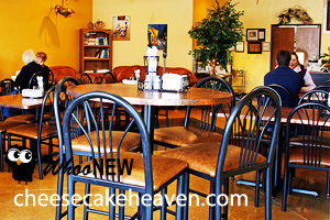 Cheesecake Heaven has a cosy environment nestled in Green Bay!