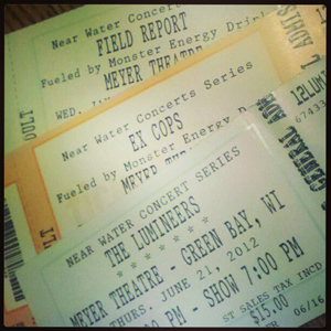Near Water Concert Series Tickets