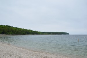 A peaceful scene at Schoolhouse Beach.