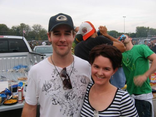 James Van Der Beek at Lambeau