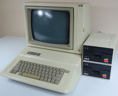 This is the Apple 11e computer. It's so… beige.