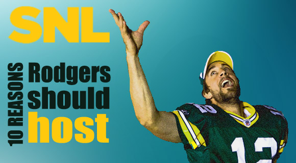Aaron Rodgers hosts SNL