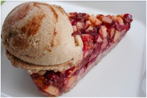cranberry apple pie - raw food recipes
