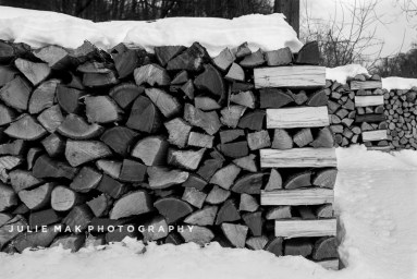 Julie Mak   Firewood on the Side of the Road