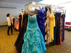 UConn Love146 collected a variety of over 150 dresses for their second annual dress resale. (Photo by Alyssa Davanzo)