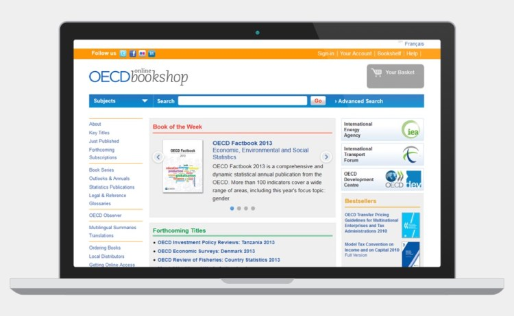 OECD Bookshop website screenshot