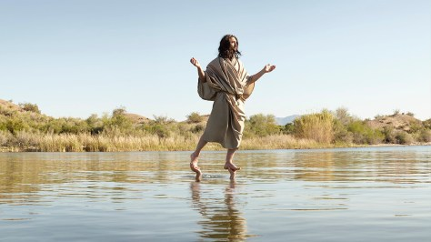 jesus walking on water, kinda