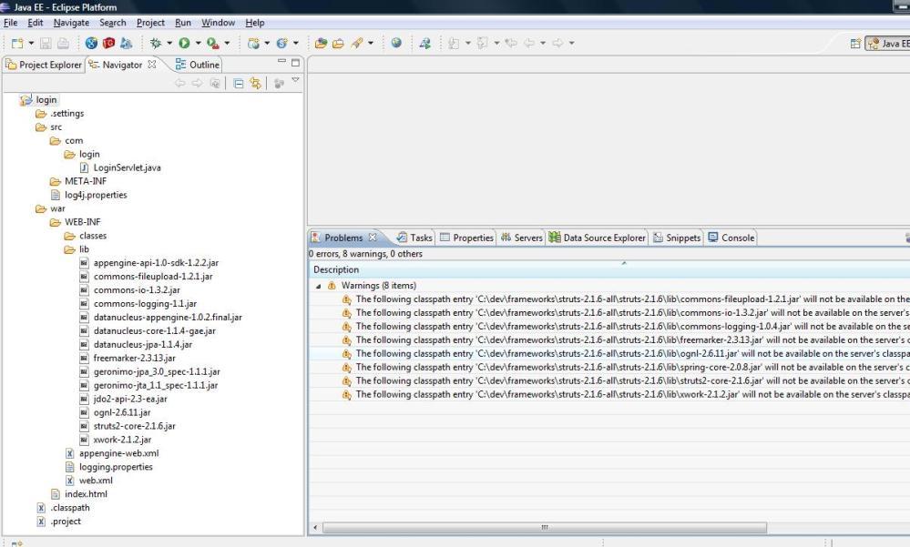 Creating Struts2 application on Google App Engine (GAE) (5/6)