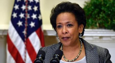 U.S. Attorney Loretta Lynch speaks in the Roosevelt Room of the White House in Washington, Saturday, Nov. 8, 2014, after President Barack Obama nominated her to be the next Attorney General succeeding Eric Holder. (AP Photo/Susan Walsh)