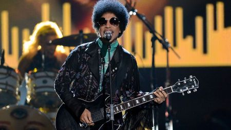 Prince, 57, died April 21 at his Paisley Park estate in Chanhassen, Minn. (File photo)