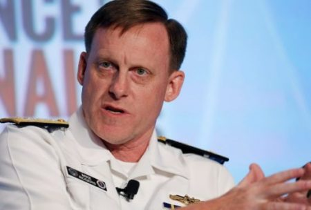 Adm. Michael S. Rogers currently heads both the National Security Agency and U.S. Cyber Command. Rogers said that in the long run he favors splitting the dual responsibility, which some in the Obama administration also support. (Gary Cameron/Reuters)
