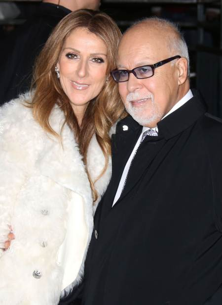 "51261932 Singer Celine Dion and her husband Rene Angelil arriving at the TV show ""Vivement Dimanche"" on November 13, 2013 in Paris, France. FameFlynet, Inc - Beverly Hills, CA, USA - +1 (310) 505-9876 RESTRICTIONS APPLY: USA ONLY"